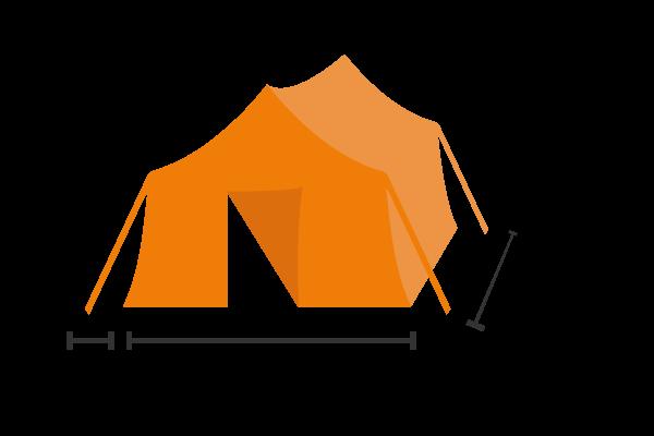 Legertent klein Basecamp Rentals 10 personen